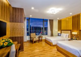 deluxe twin room hotel da nang near beach