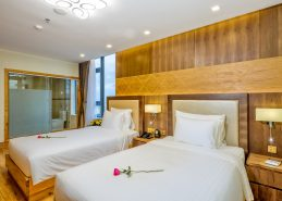 deluxe twin room da nang accommodation