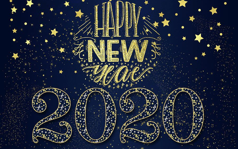 new year 2020 navy blue and gold stars doreen erhardt